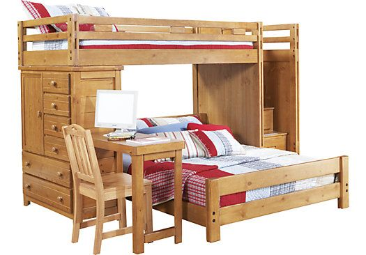 Shop For A Creekside Taffy Twin Full Step Bunk Bed W Desk