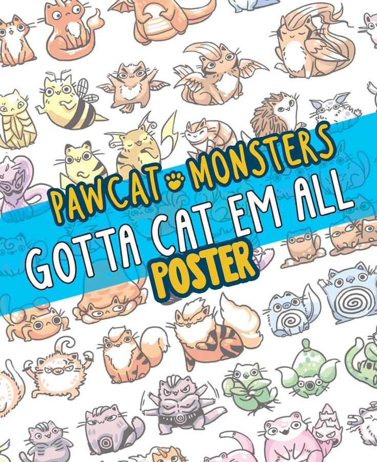 150 Pokemon as cats! 11 by 17 poster, geekery, cats by michiscribbles on Etsy https://www.etsy.com/listing/472986377/150-pokemon-as-cats-11-by-17-poster