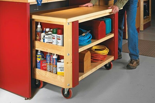 Mobile Workbenches For Garages : Shopnotes mobile workbench plans workshop pinterest