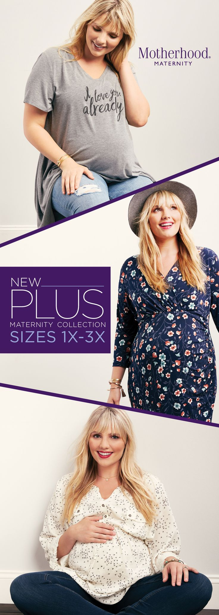 Our new line celebrates your curves! Shop our updated fit Plus collection only at Motherhood Maternity, in stores and online.