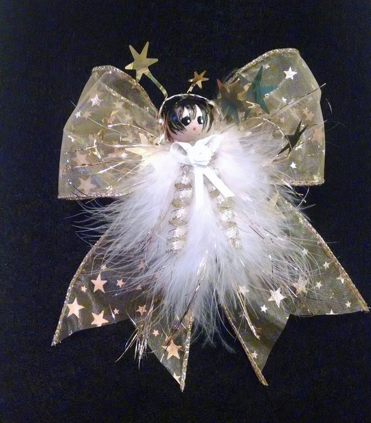 Gold star Angel, Feather Angel, Angel Ornament, Gifts Under 20, Teacher Gift…