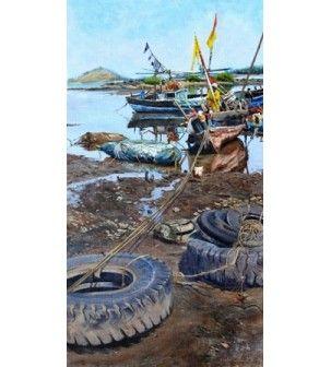 Placidity Painting by Vivek Vadkar