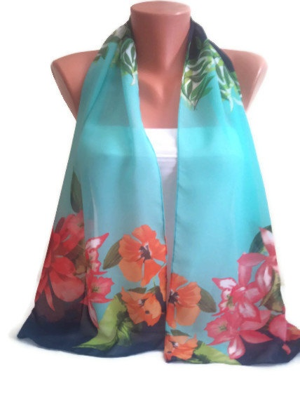 Multicolor scarf Trendyscarf Multicolor flowers by TrendyScarf, $12.99