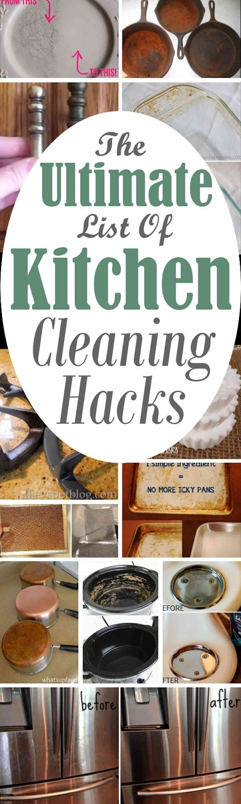 The Ultimate List Of Kitchen Cleaning Hacks. #LifeHacks #Cleaning