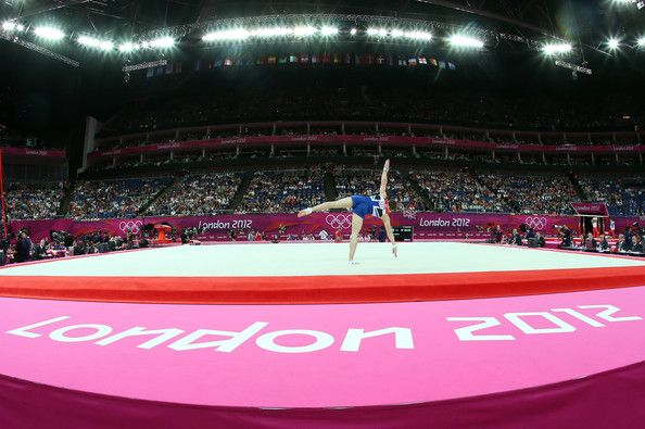 Sam Oldham of Great Britain competes in the floor exercise in the Artistic Gymnastics Men's Team qualification on Day 1 of the London 2012 Olympic Games at North Greenwich Arena on July 28, 2012 in London, England.