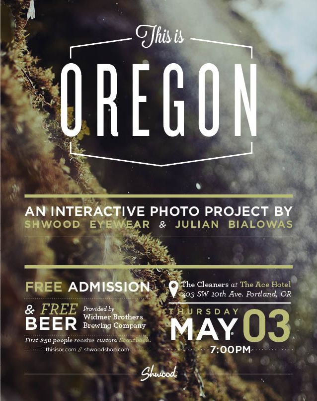 This is Oregon www.thisisor.com: Posters Inspiration, Events Posters, Design Graphics, Oregon Posters, Posters Design, Graphics Design, Photos Flyers Design, Oregon Graphicdesign, Design Layout