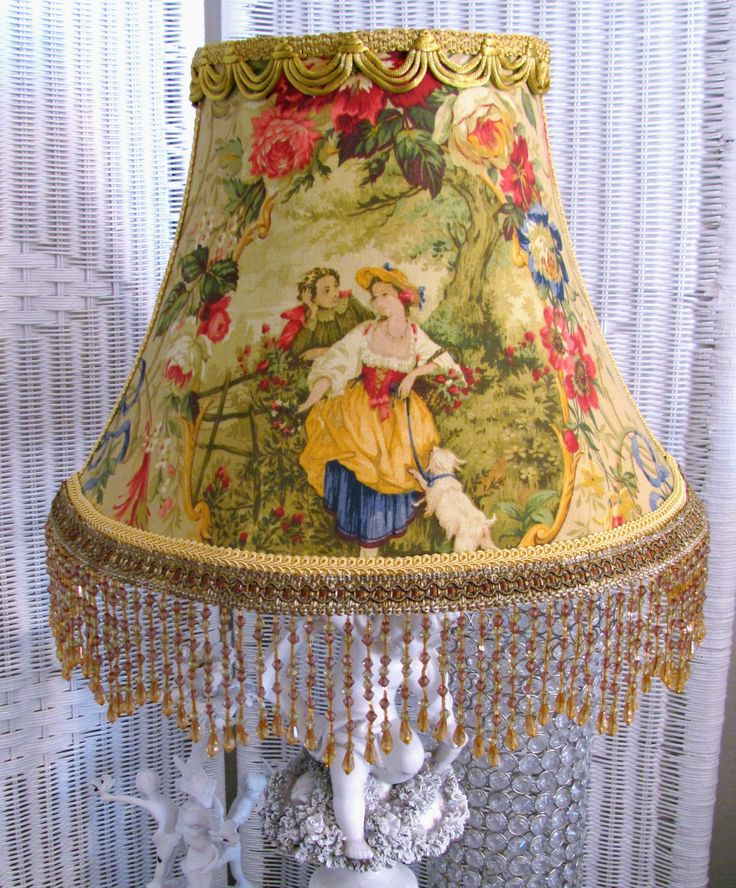 12 Quot Lamp Shade Gold Fragonard Cameo French Country Toile