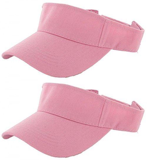 Pink_Plain Visor Sun Cap Hat Men Women Sports Golf Tennis Beach New Adjustable (US Seller)