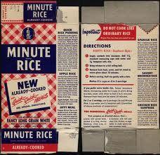 Minute Rice Box