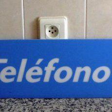 95  CARTEL DE CABINA TELEFÓNICA ESPAÑA.Procede del Desmontaje de Cabina de Teléfono Obsoleta