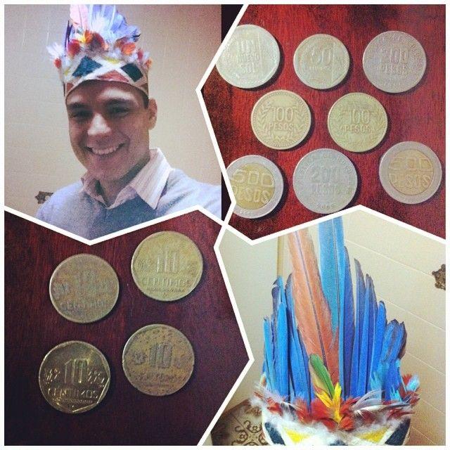 Presentes vindo diretamente da tribo Ticuna pelas mãos do primo Matheus :D #brazil #amazonia #numismatic #coin #coins #brasil #numismatica #moeda #moedas #indio #ticuna