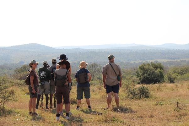 Our group taking in the view of endless wilderness - it is a rarity and a privilege to see no human habitation or alteration to the landscape.