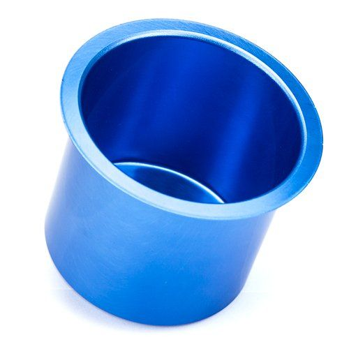 Vivid Blue Aluminum Cup Holder:   Whether you are building a poker table or want to enhance the look of one you already own, this blue, vivid aluminum drop-in cup holder is the perfect solution. Not only will players have a place to store their drinks, but you will decrease the chances of spills and unwanted stains on your table. These cup holders are also ideal for holding keys, cell phones and other items during the game. Durable and rust proof, each cup holder drops right into your ...