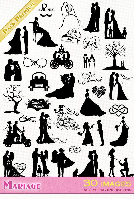 Fichiers vectoriels gratuits consacrés à l'amour et la Saint Valentin (SVG + SILHOUETTE STUDIO). Idéal pour Silhouette Caméo/Portrait/Cricut, scrapbooking ...