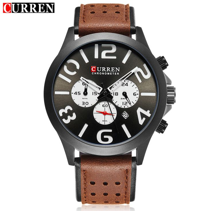 CURREN Men's Fashion Casual Auto Date Quartz Wristwatches Leather Strap Stopwatch Waterproof Watches Masculino 8244   Tag a friend who would love this!   FREE Shipping Worldwide   Buy one here---> https://shoppingafter.com/products/curren-mens-fashion-casual-auto-date-quartz-wristwatches-leather-strap-stopwatch-waterproof-watches-masculino-8244/