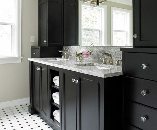 High Quality Decorating With Black Bathroom Vanities