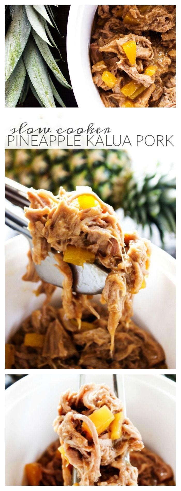 Slow Cooker Pineapple Kalua Pork - A Dash of Sanity