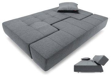 Long Horn Deluxe Excess Sofa Bed in Basic Dark Gray - modern - sofa beds - Dexter Sykes