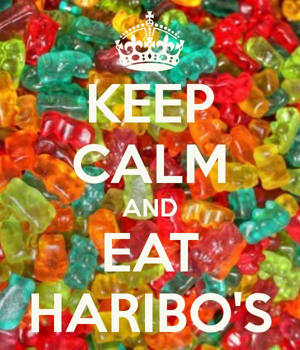KEEP CALM AND EAT HARIBOS - KEEP CALM AND CARRY ON Image Generator - brought to you by the Ministry of Information
