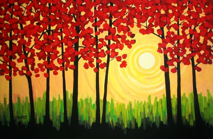 easy canvas paintings for beginners