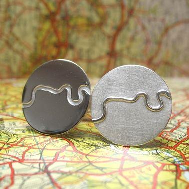 Thames Cufflinks   Contemporary Cufflinks by contemporary jewellery designer Hannah Louise Lamb