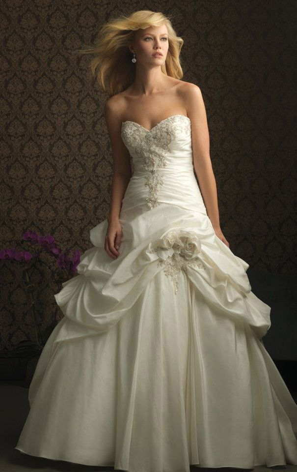 Allure Bridals Dress 8752 White/Silver 10