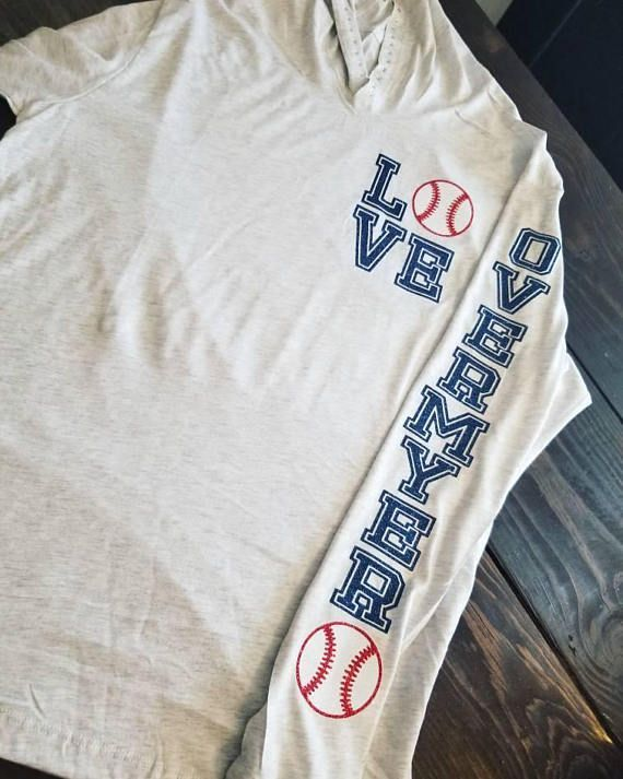Personalized Baseball Hoodie, Baseball Mom Hoodie, Love Baseball Hoodie, Custom Baseball Shirt, Baseball Sweatshirt, Gift for Mom, Baseball, Baseball Girlfriend, Baseball Jacket Personalized Baseball Hoodie is a perfect lightweight super soft and comfy long sleeve tee hoodie. This is