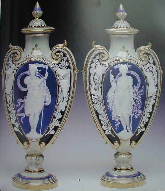 Mintons Marc Louis Solon Decorated Pate Sur Pate Vase Pate Sur