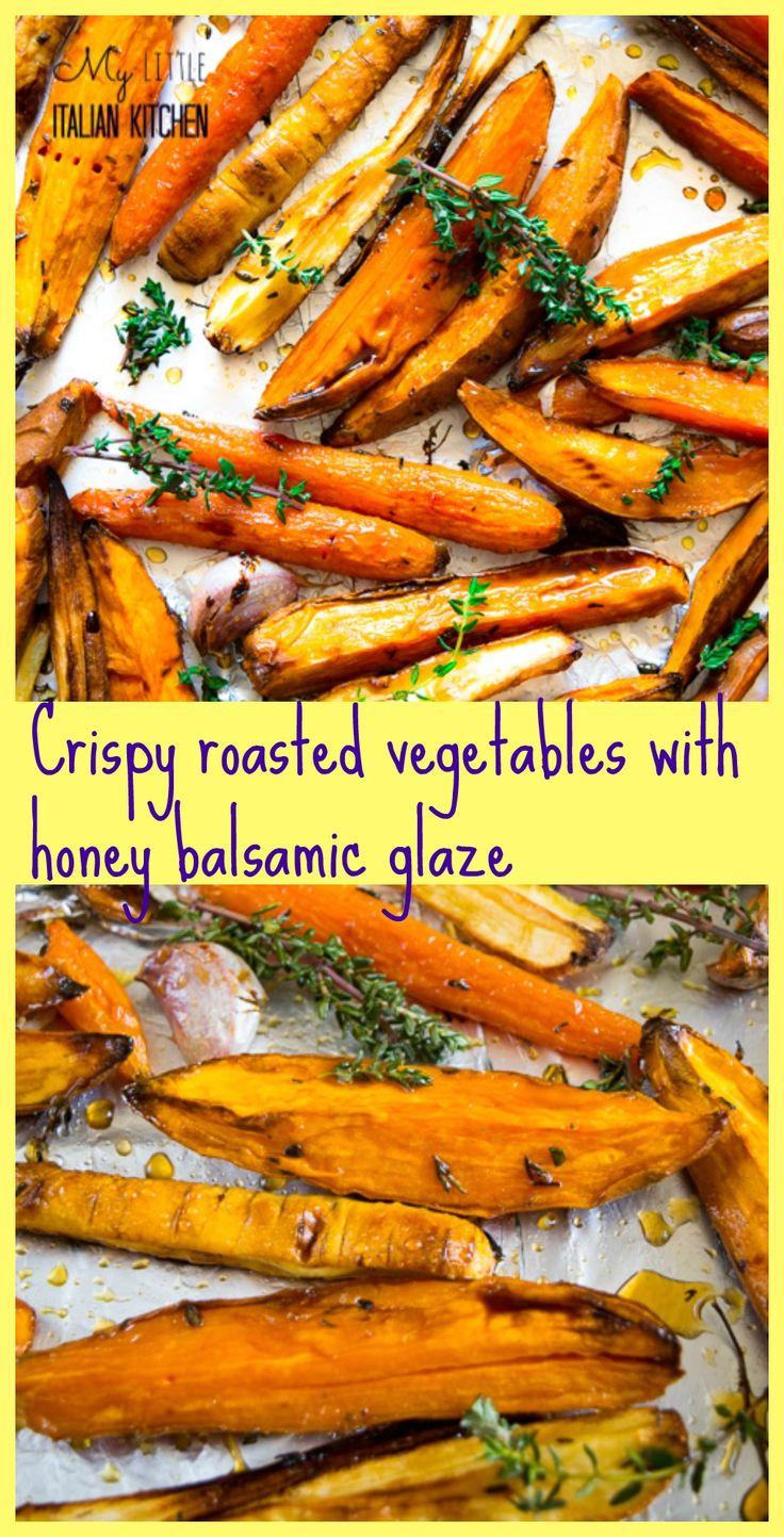 ... honey balsamic glaze | Recipe | Roasted Sweet Potatoes, Balsamic Glaze