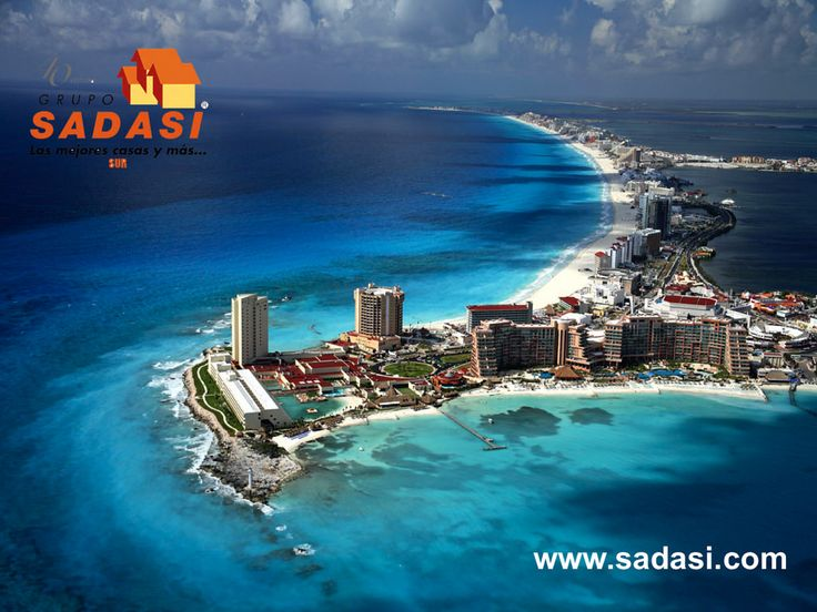 #sadasi LAS MEJORES CASAS DE MÉXICO. Cancún, es una ciudad del estado de Quintana Roo, con un desarrollo turístico internacional importante para el país, cuenta con una Zona Hotelera con una extensión de 23 kilómetros que se conectan con la zona urbana a través de tres puentes y alberga a la mayoría de los complejos hoteleros. Lo invitamos a conocer los desarrollos que GRUPO SADASI en este estado y adquiera la casa ideal para su familia.  informes@sadasi.com