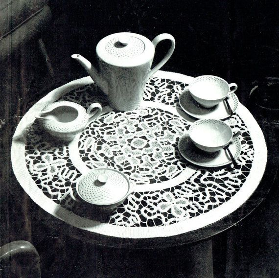 PDF Antique 1940s COATS 454 Gorgeous 'Floral Swirls' Doily Crochet Pattern with Motif Braidwork Lacemaking, Tape work, Heirloom, Keepsakex