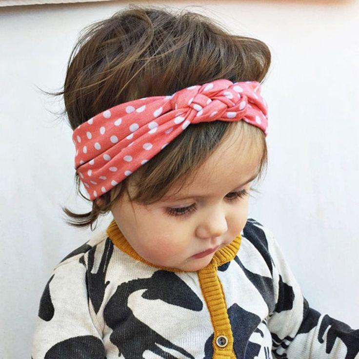 Infantil bambino dot haibands neonata torto fasce per capelli copricapo Bandana head wrap accessori per capelli per i bambini 1 pz HB444