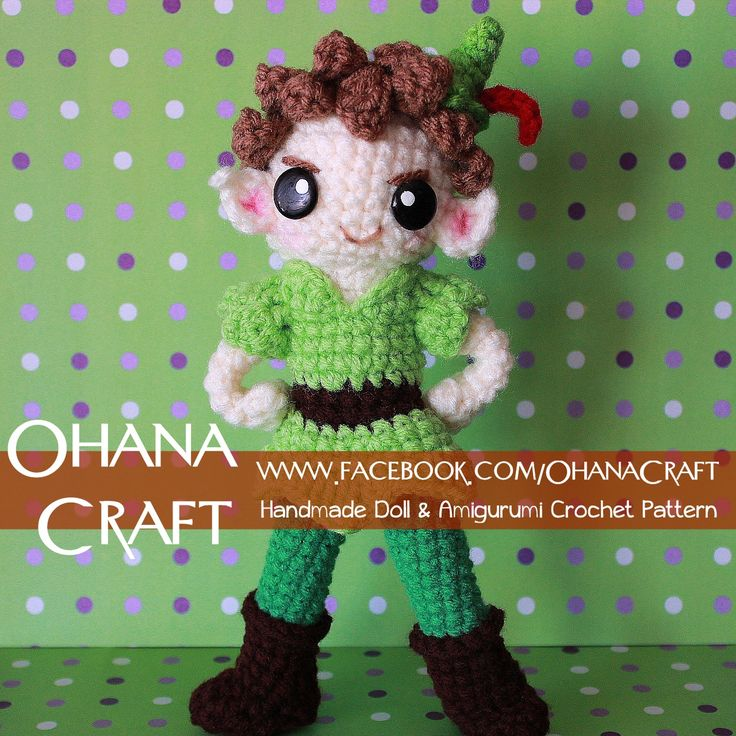 145 best peter pan images on pinterest amigurumi patterns peter crochet pattern pattern by ohana craft dt1010fo