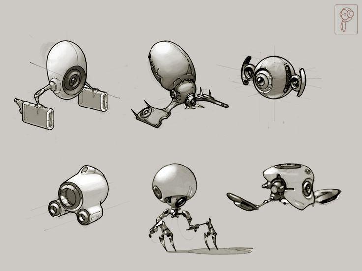 Fun robots concept by Papierpilot on deviantART