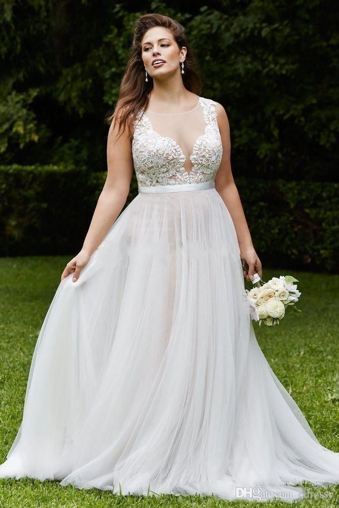 Cheap 2017 Vintage Country Lace Plus Size Wedding Dresses Sheer A Line Tulle Wedding Bridal Gown Cheap Custom Made Sweep Train As Low As $104.53, Also Buy Search Wedding Dresses Short A Line Wedding Dress From Edressy| Dhgate Mobile