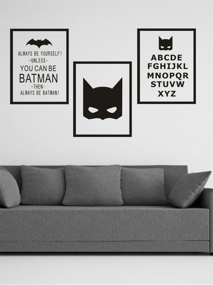 Shop DIY Wall Stickers Batman Minimalist Style PVC Wall Stickers online at Jollychic,FREE SHIPPING!