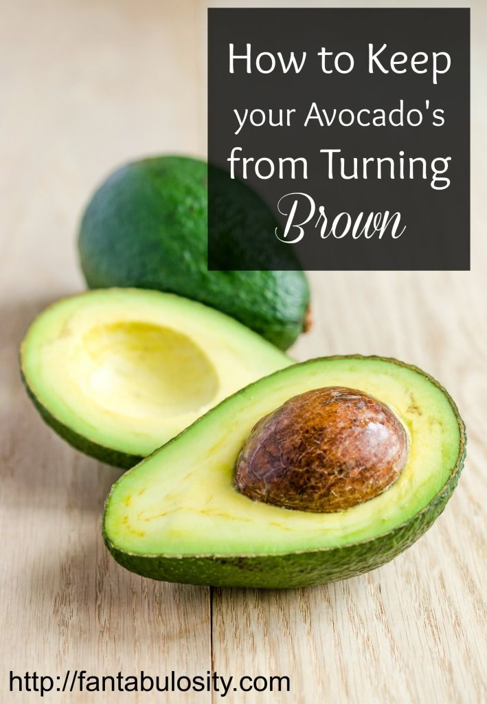 This little trick changed my avocado life!  ===> How to keep your avocados from turning brown!  http://fantabulosity.com