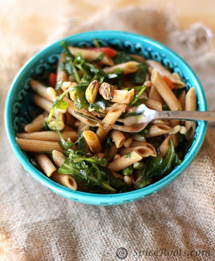 Kale and Pistachio Pasta Salad