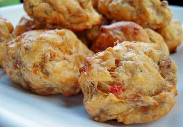 RO*TEL Sausage Balls - great football food! Sounds amazing