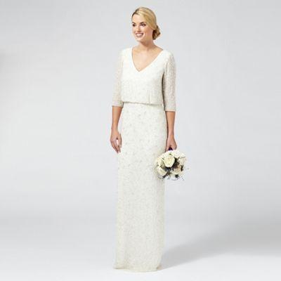 Ben De Lisi Occasion Ivory 'Margerite' embellished wedding dress   Debenhams