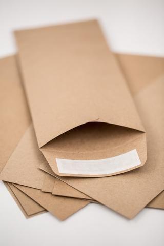 #10 Kraft Envelope -Standard Business Size, Open End, Square Flap & Self Stick