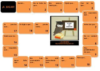 Subjunctive games and more( tic tac toe, loteria etc)