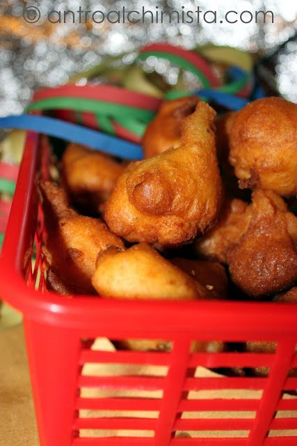 Frittelle con Grana e Salame - Carnival Fritters with Parmesan Cheese and Salami
