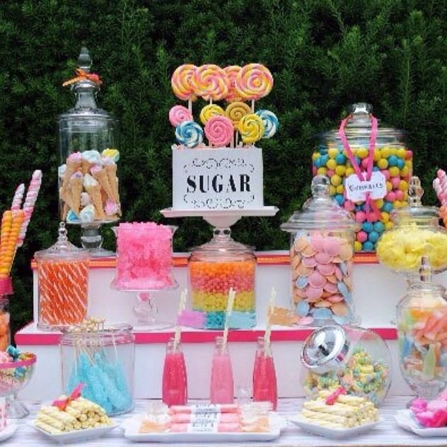 Candy Bar For Wedding Ideas: Candy Land! Wedding #candy Bar At The Reception. Www