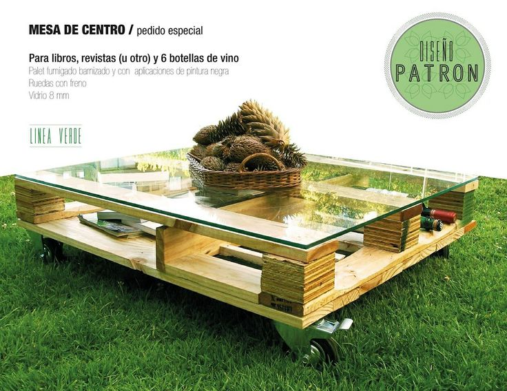 Mesa palet, para vinos.  Palet table, for wines.