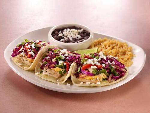 Tacos de pescado from Cantina Laredo in Austin, TX.