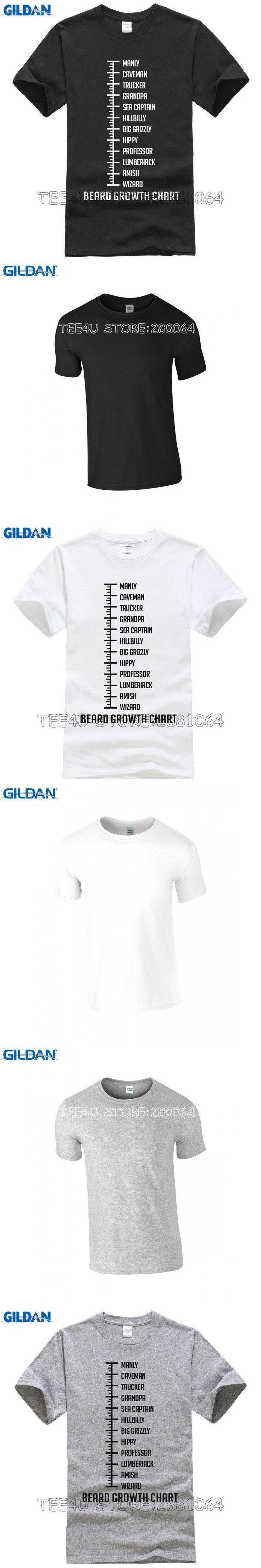 Tee4U Personalised T Shirts Men'S Short Funny Crew Neck Beard Growth Chart Manly T Shirt