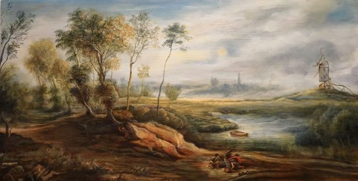 Rep. P.P. Rubens. Tablou de Dan Scurtu
