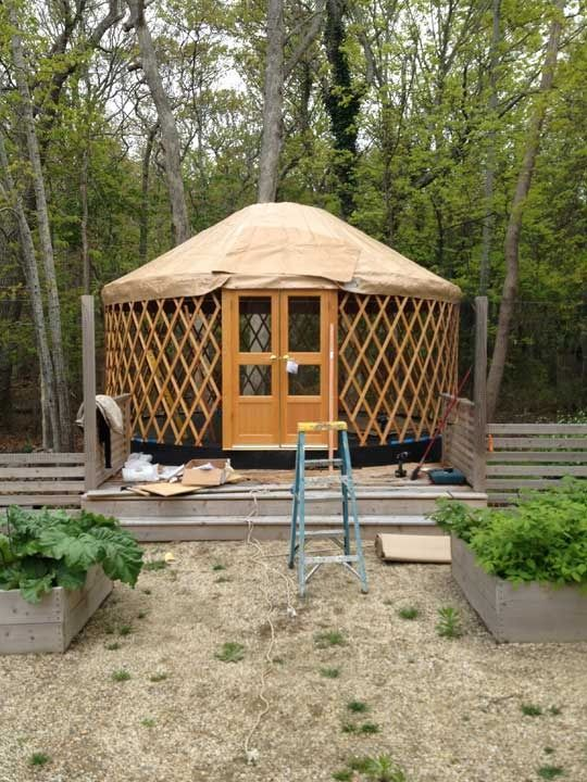 """Interesting idea for a private space in a """"yurt.""""      Pinned from 7 Best Sources for Yurt Kits"""