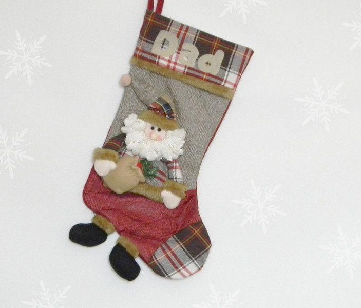 Nikolausstiefel - Nikolausocke Nikolausstrumpf - ein Designerstück von ovk7474 bei DaWanda